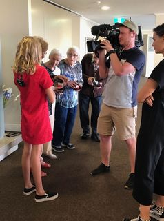 Filming for TVOne SevenSharp at Summerset Retirement Village